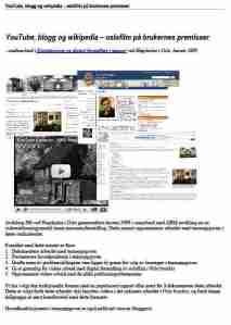 YouTube, blogg og wikipedia – oslofilm på brukernes premisser